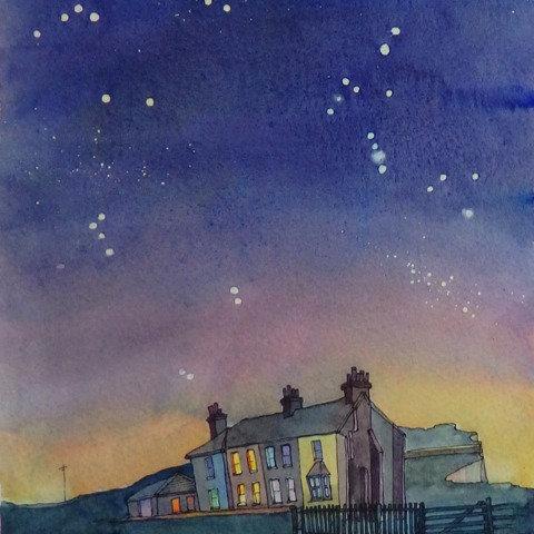 Geminid Night, Birling Gap by Lyndsey Smith