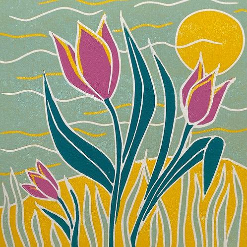 Trio of Tulips by Sue Collins