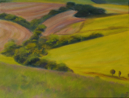 Downland Curves by Janice Thurston