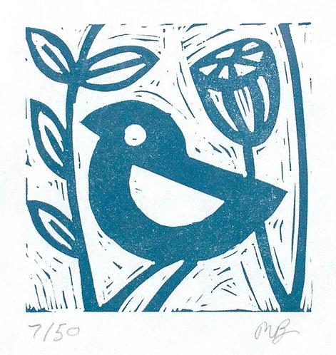 Little Blue Bird by Melissa Birch