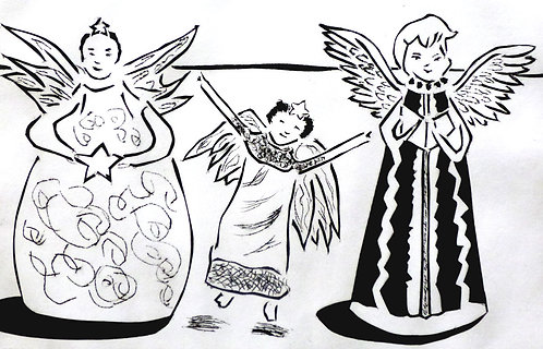 Two Angels and a Fairy by Joan Wilkes