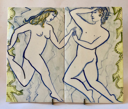 Two Tiles by Yolande Beer