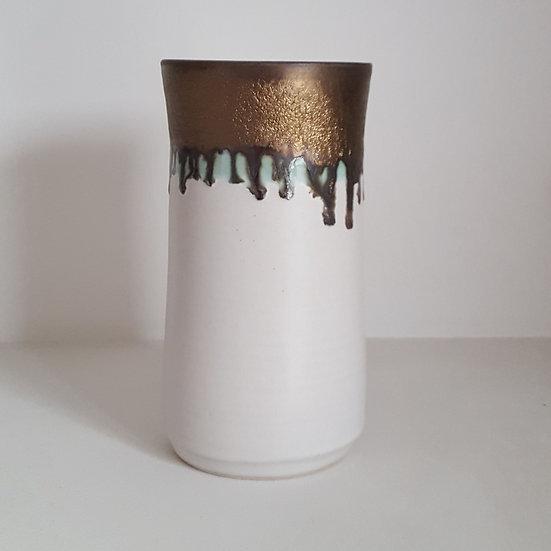 White Gold Vase