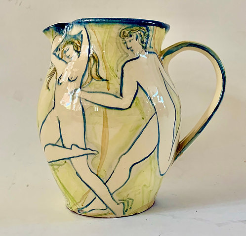 Large Figurative Jug by Yolande Beer
