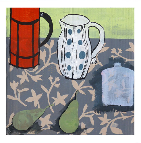 Still life with spotted jug by Joan Wilkes