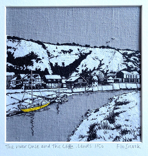 River Ouse and the Cliffe, Lewes by Flo Snook