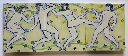Figurative Frieze by Yolande Beer
