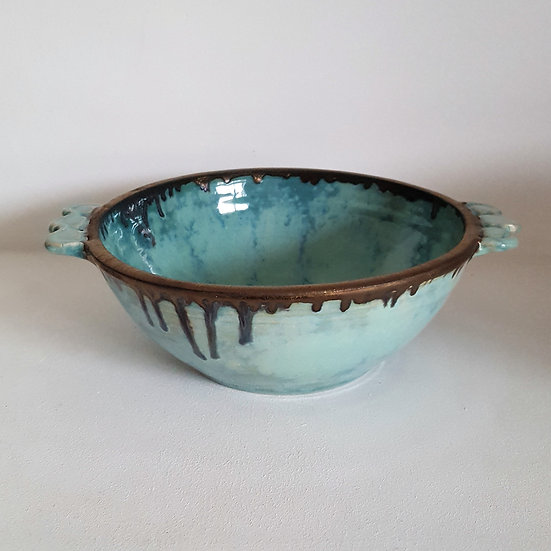 Summer Clouds bowl with handles