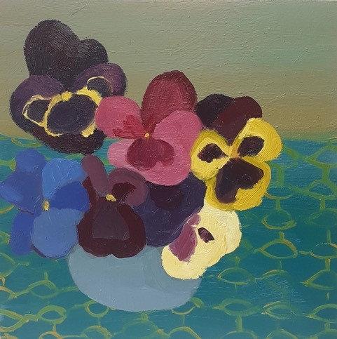 Pot of Pansies by Georgie Richardson