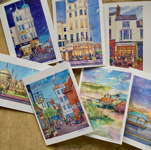 A Weekend in Brighton Card Selection by Lyndsey Smith
