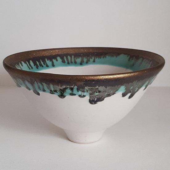 Small White Gold Bowl