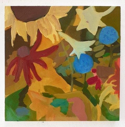 Summer's Flowers with Cornflowers by Georgie Richardson
