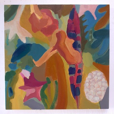 Summer's Flowers with Chard by Georgie Richardson
