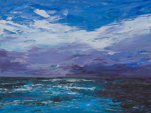 Purple Sky and Sea by Eva Wibberley