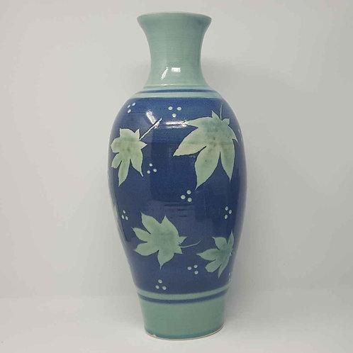 Large Vase with Acer Leaves by Jane Bridger