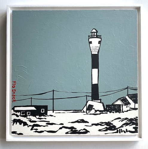 The New Lighthouse at Dungeness by Flo Snook