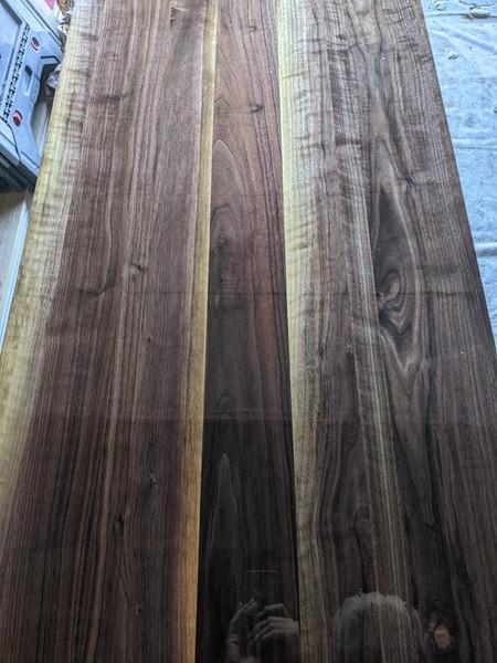 Hardwood countertops.