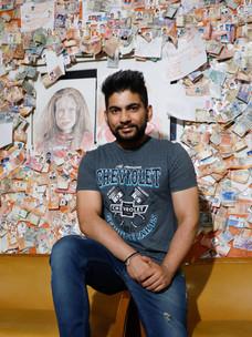 Shuvam Wadhera, deck cadet indien en contrat sur le MSC BREMEN.