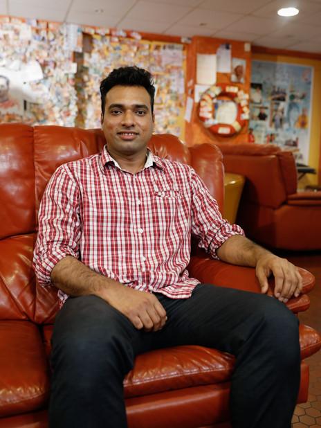 Jakhar, marin indien sur le MSC BREMEN.