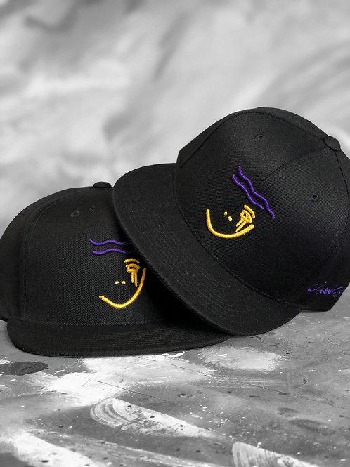 CB Purple/Yellow SnapBack Black