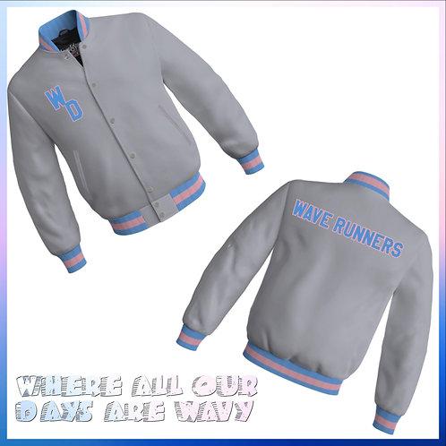 Silver Satin Wave Runner Jacket