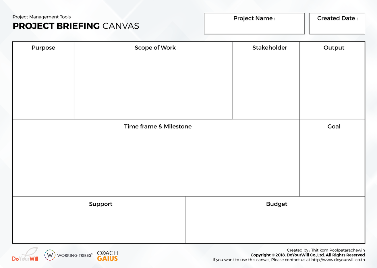 Project Brieving Canvas