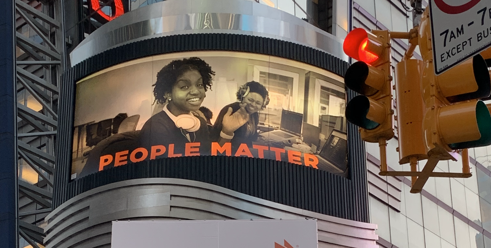 PEOPLE MATTER TIME SQ