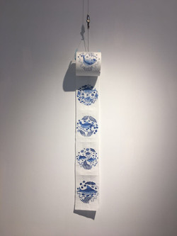 Hand-drawn Fish Decortaion of Yuan Dynasty on Toilet Roll 手繪青花魚紋衛生紙