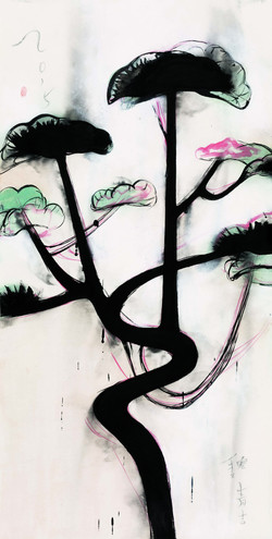 松之一 Pine I 136×70cm 宣紙 墨 Ink on Xuen