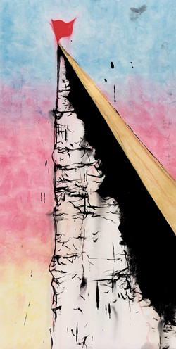 高山 High Mountain 136 × 70cm 宣紙 墨 Ink