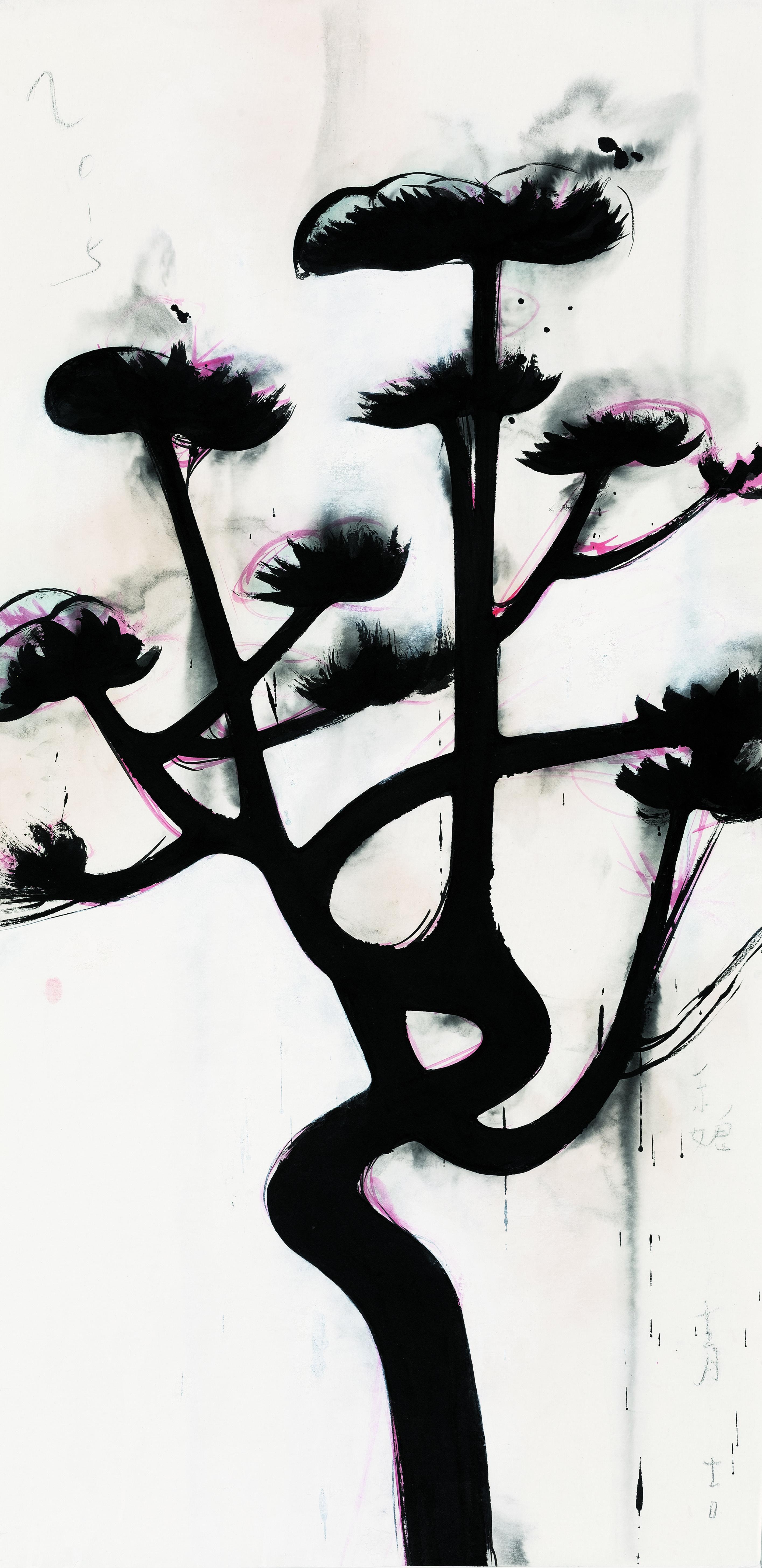 松之二 Pine 2 136×70cm 宣紙水墨 Ink on Xuen
