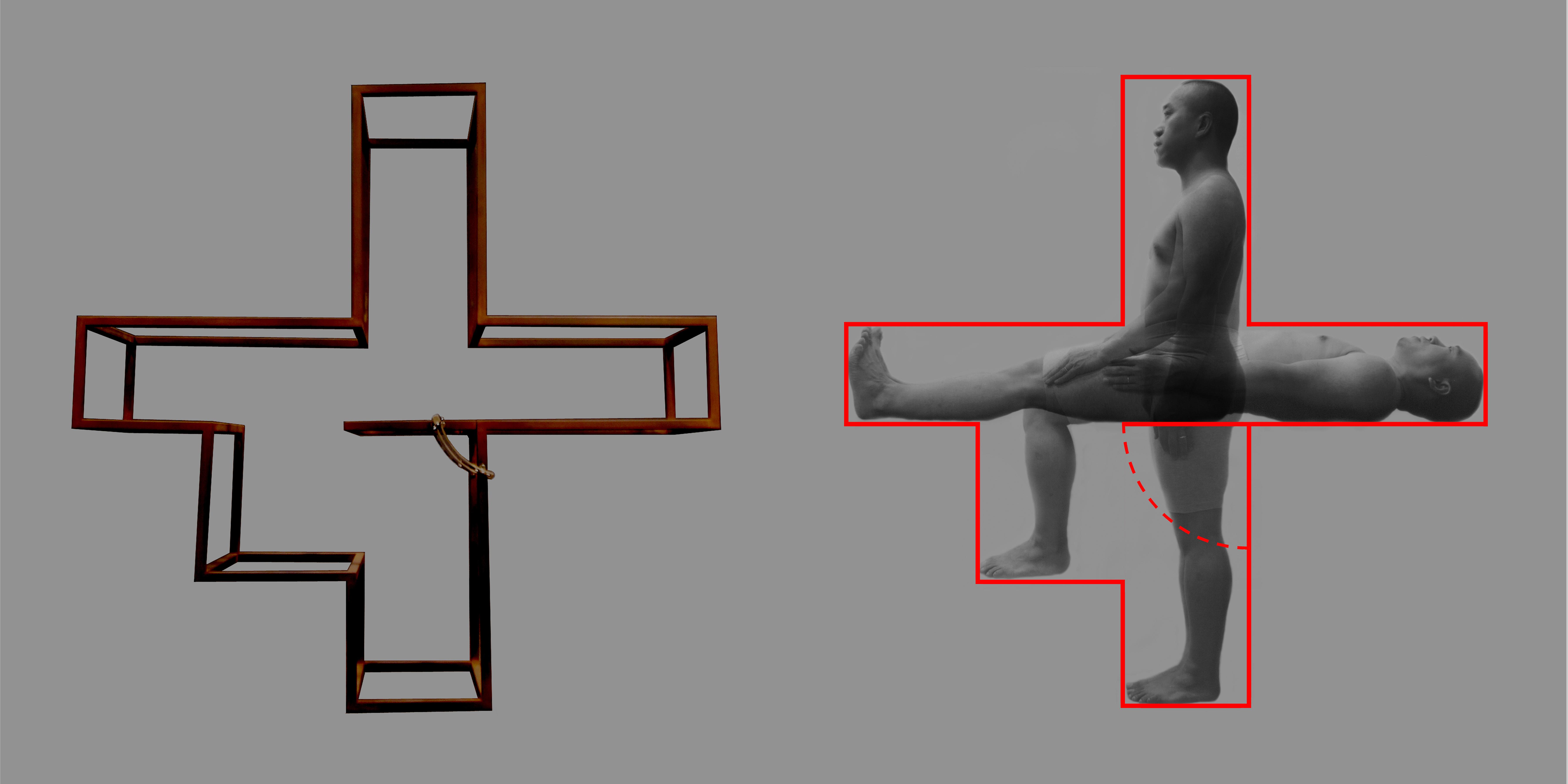 坐/立/卧 Sit/Stand/Lie 鋼雕塑 Steel sculpt