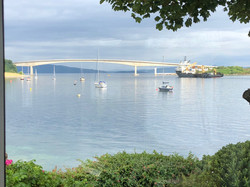 Skye bridge and boats