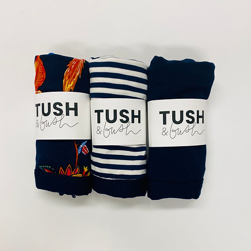 Navy 3 Pack - available in Low & High