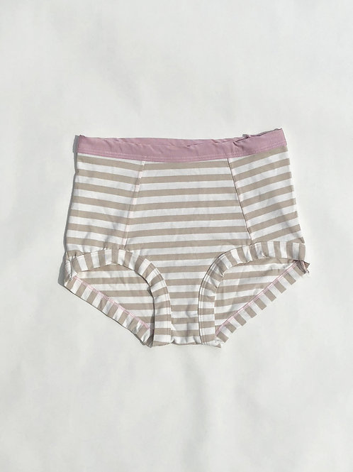 High Waisted Hazelnut Stripe