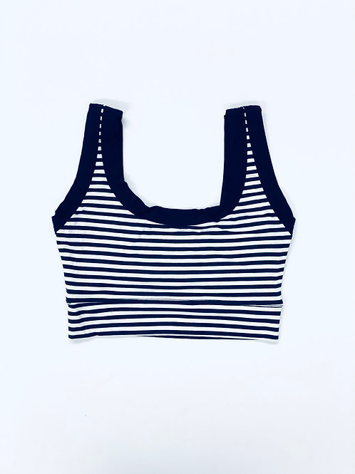 Navy Stripe Bralette