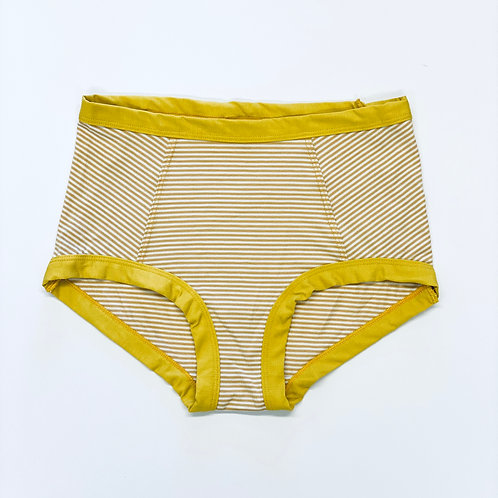 High Waisted Goldenrod Stripe