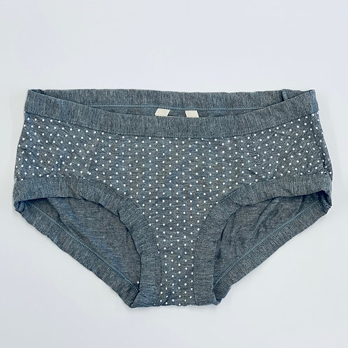 Low Waisted Grey Polka Dot