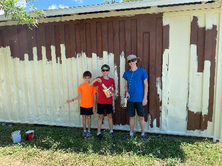 Volunteers fixed up the Cook shed!