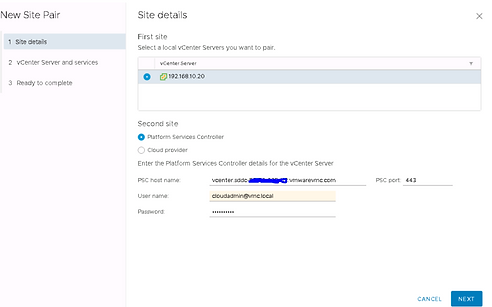 VMware Cloud on AWS DRaaS (SRM) Deployment