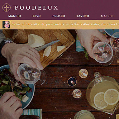 FOODELUX. Brand naming e web copywriting