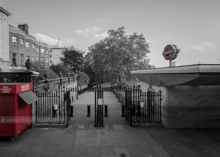 Green Park's entrance