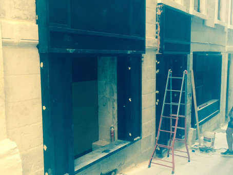 Works on 'The Gut' Shopfronts in full swing