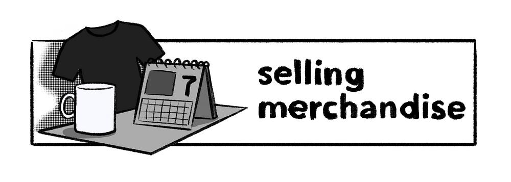 selling merchandise