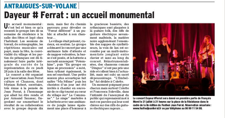 Article du concert (28 juin)