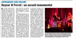 Article du concert (28 juin)
