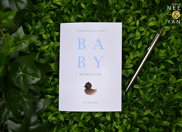 New Baby Duck Card
