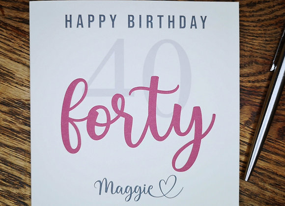 Personalised Birthday Card - Mile Stone