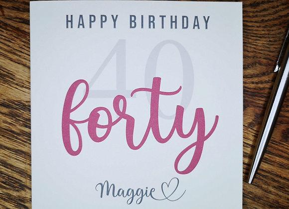 Personalised Birthday Card - Mile Stone