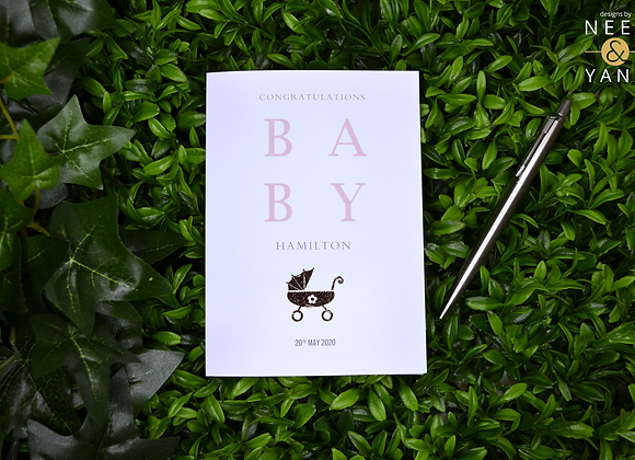 New Baby Pram Card